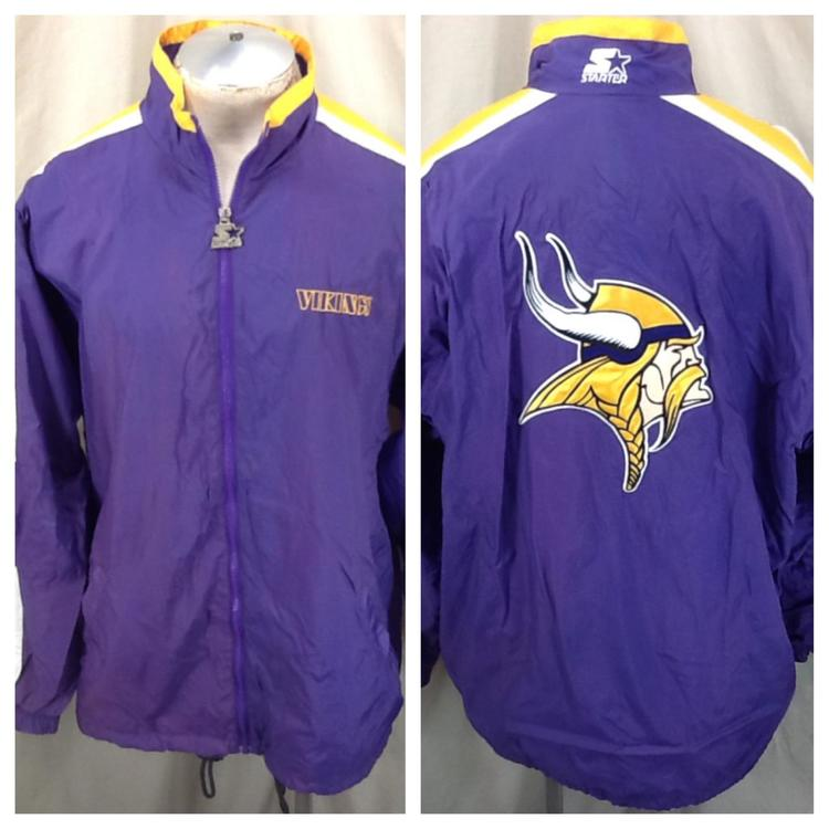 on sale defed 7bd6e Vintage 90's Starter Minnesota Vikings Football (XL/2XL) Retro Zip Up  Windbreaker Jacket