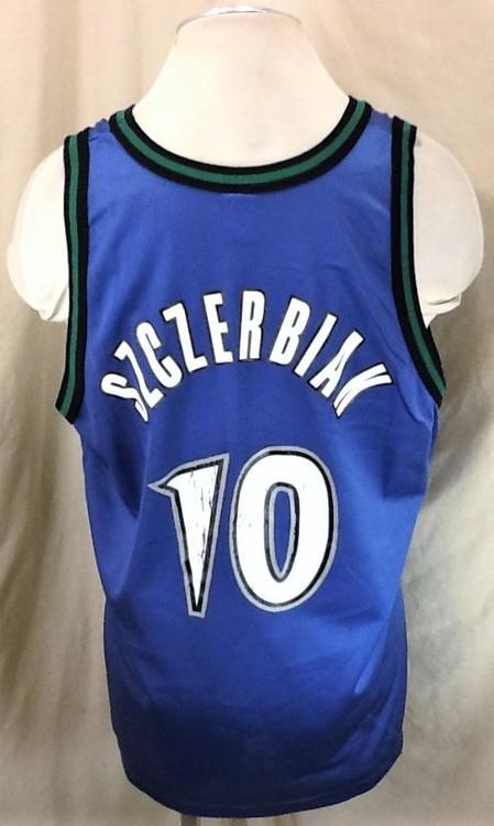 9ce5d33d3c6 Vintage 90's Champion Minnesota Timberwolves (XL/48) Retro Wally Szczerbiak  #10 Blue Jersey | Basketball Apparel & Jerseys | SidelineSwap