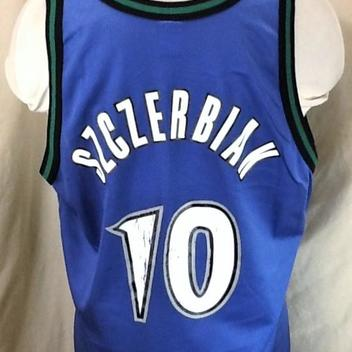 cf79a3d8da4a Vintage 90 s Champion Minnesota Timberwolves (XL 48) Retro Wally Szczerbiak   10 Blue Jersey. Related Items