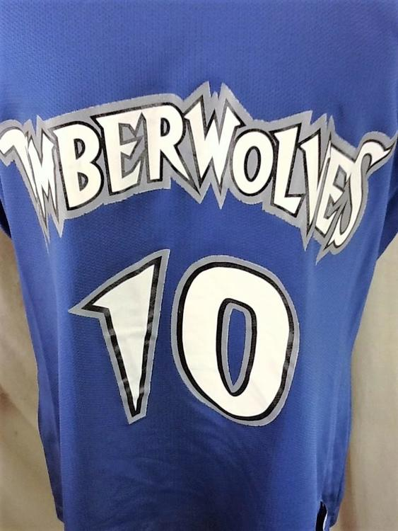 2086e21aadd7 Vintage 90 s Champion Minnesota Timberwolves (XL 48) Retro Wally Szczerbiak   10 Blue Jersey