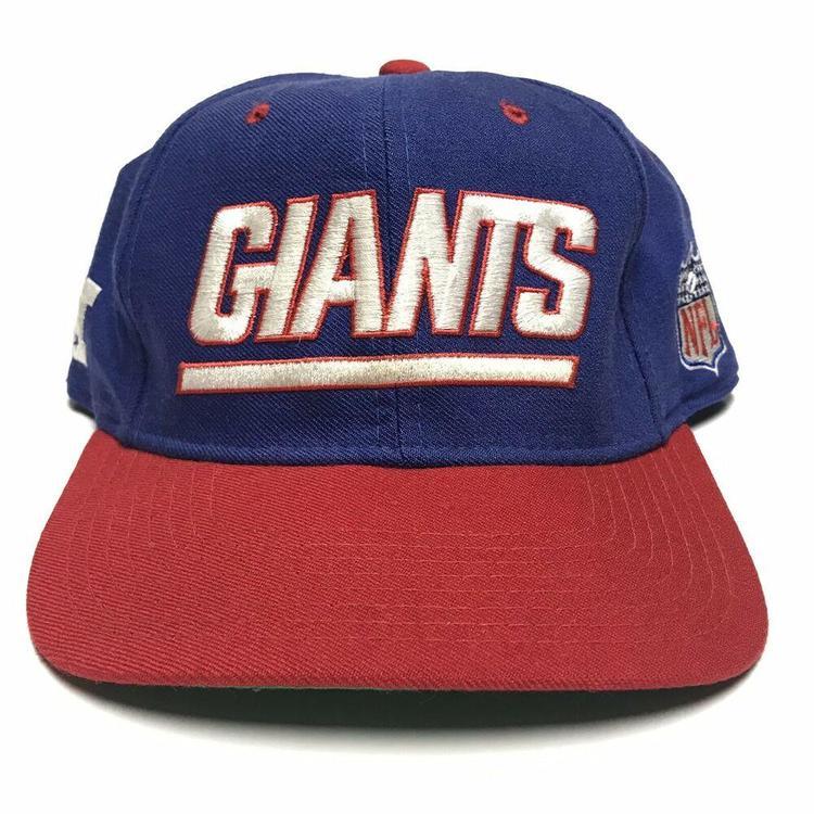 d3df398c VTG New York Giants Starter Fitted Hat NFL Football 1990s Two Tone Men's 7  1/4