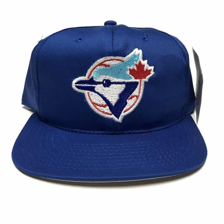 separation shoes 59ac4 f0536 VTG Toronto Blue Jays Twill Plain Logo Snapback Hat MLB Baseball Cap NWT  New. Related Items