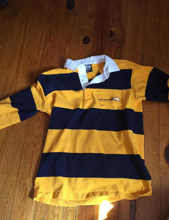 Navy Blue And Yellow Lacrosse Rugby Shirt