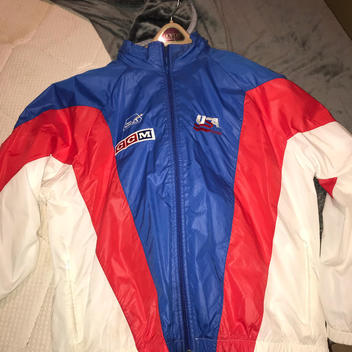 5c94c3577d5d TEAM USA NIKE 1 4 ZIP STORM FIT WARM UP JACKET LARGE EUC