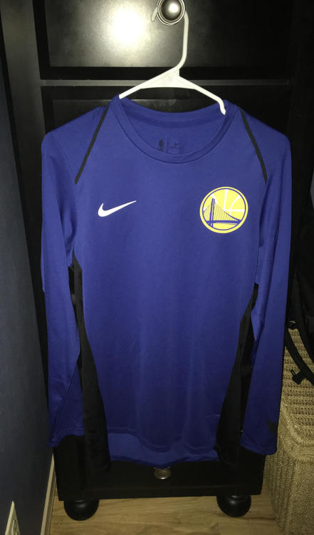 warriors warm up long sleeve