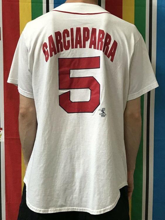 super popular 3d049 3362f VTG Nomar Garciaparra Boston Red Sox MLB Baseball Jersey Mens Size Large