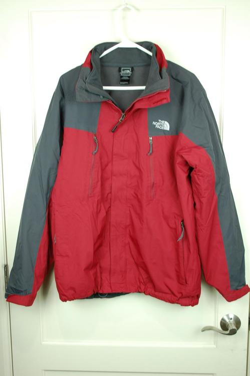 9978140b9 The North Face Hyvent Tri-Climate Red/Gray Waterproof Jacket 3-in-1 Men's L