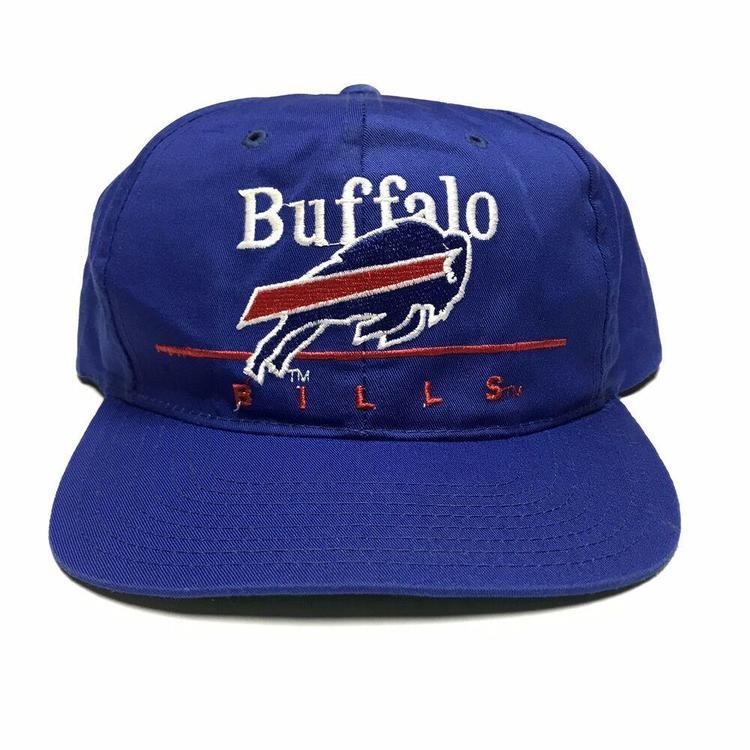 d8ce4fa0ad1ad0 VTG Buffalo Bills Twill Bar Snapback Hat NFL Football Cap Eastport 1990s  Blue. Related Items