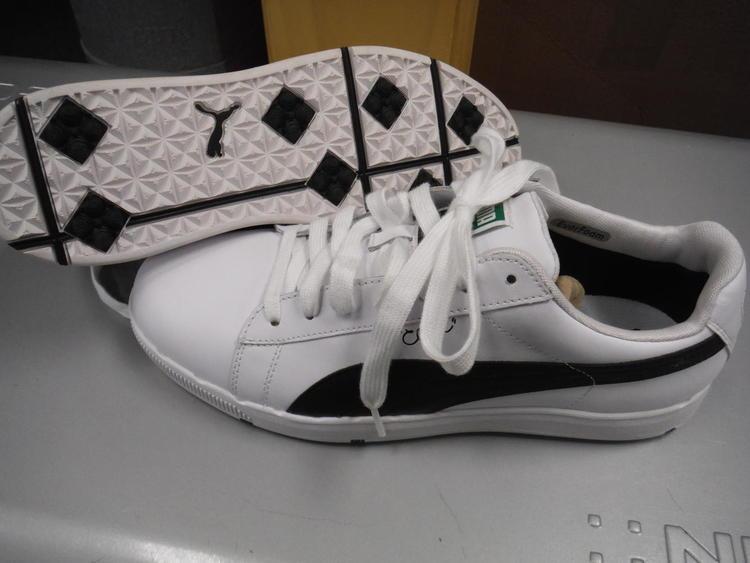 sale retailer b93ce 88386 New Men's Puma PG Clyde Golf Shoes - 10.0M - White/Black