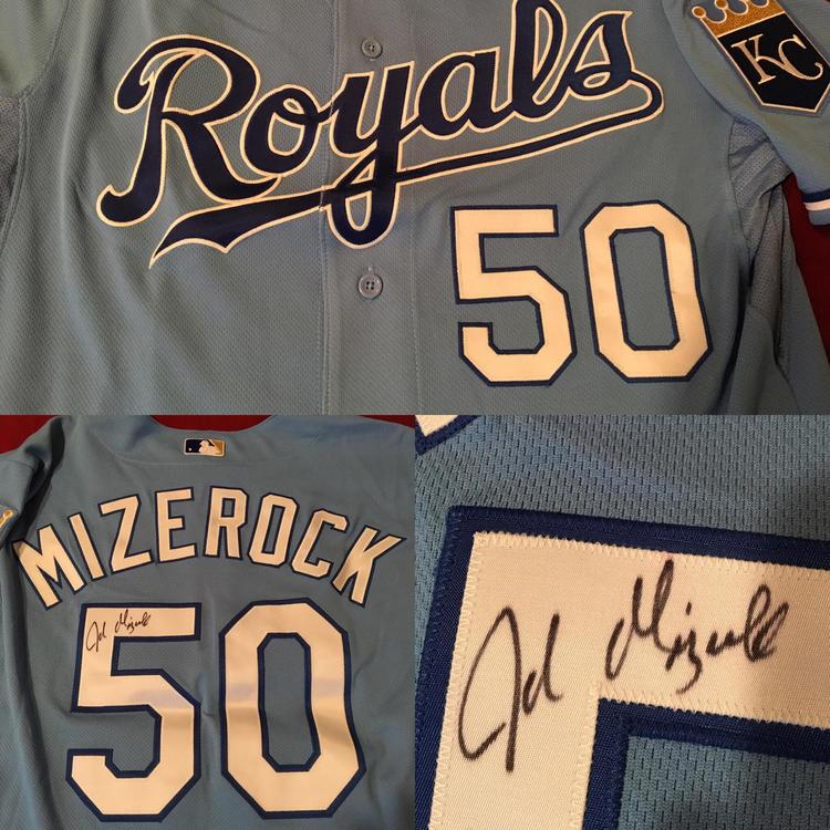 huge selection of 00b07 24c55 Kansas City Royals John Mizerock #50 MLB Majestic Baseball Jersey Size 46
