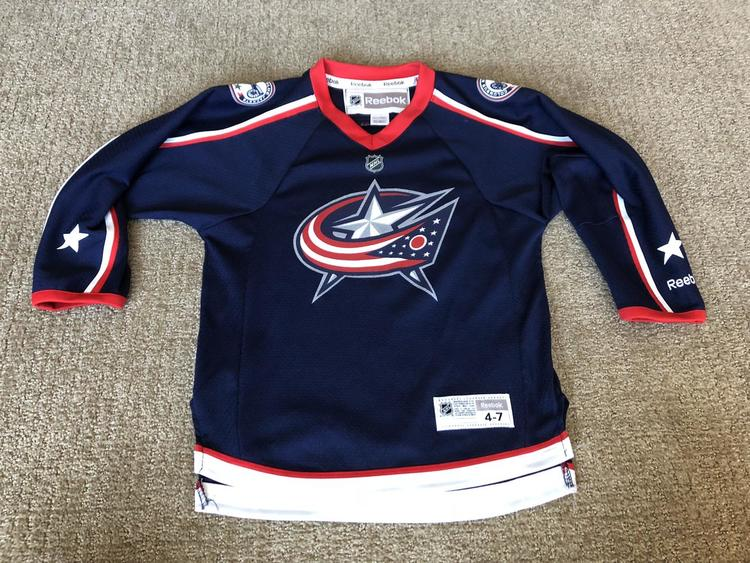 huge selection of a69ff 23b12 Columbus Blue Jackets Jersey, Youth 4-7