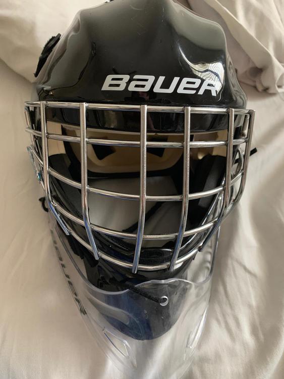 Bauer Youth Nme 3 Helmet With Dangler Sold Hockey Goalie