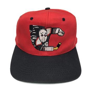 b7d3b300ba2 Vintage Calgary Flames corduroy snapback hat by Ted Fletcher The Classic