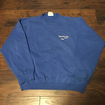 587f8b13 Champion Eco Crewneck Sweatshirt Solid Blue Plain Logo Streetwear ...