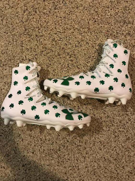 408514de9d69 Under Armour NEW UA Limited Edition Shamrock Highlights Size 10 | SOLD |  Lacrosse Footwear | SidelineSwap