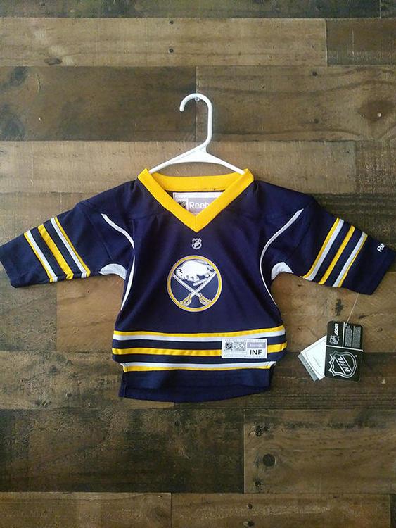 wholesale dealer 5e71d 38efa New Reebok NHL Hockey BUFFALO SABRES Blue Gold Infant Team Jersey