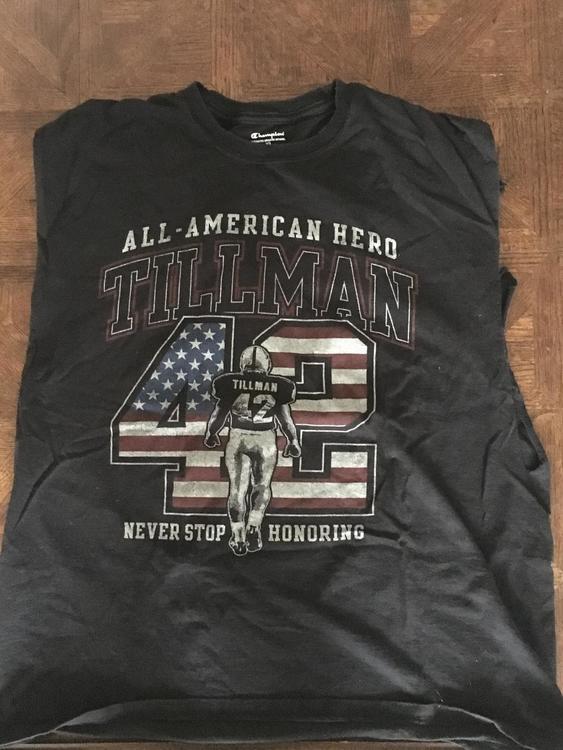 pretty nice f9a31 ef322 Pat Tillman Rememberance Shirt (sleeveless)