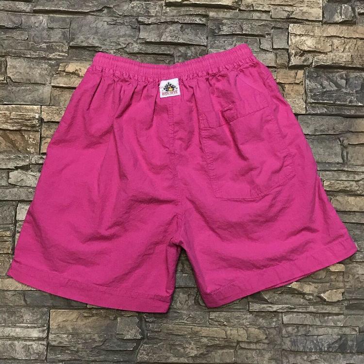 0561af7a42 VTG Pink Swim Trunks Bathing Suit Short Swimsuit 1990s Mens Large ...