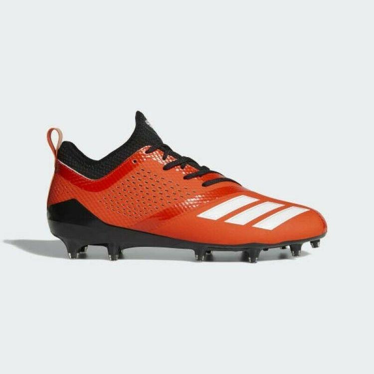 Adidas AdiZero 5 Star 7.0 sz 12 Orange Black DA9541 Football Cleats
