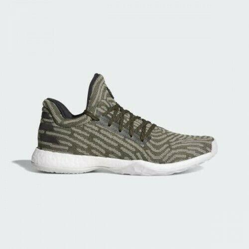 Adidas Harden Vol 1 LS PK 8.5 Night Cargo Green AH2113 Lifestyle PrimeKnit Boost
