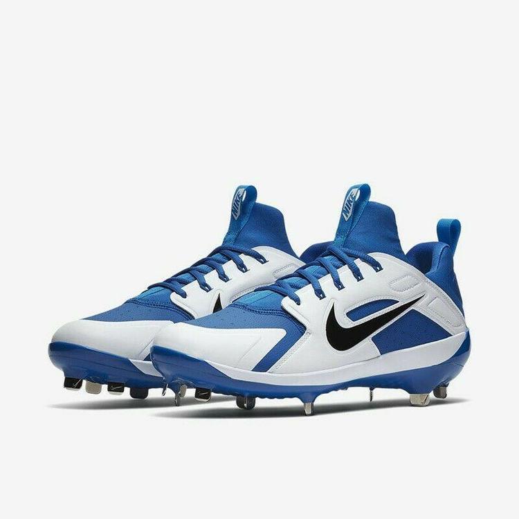 separation shoes 49ae0 b18a1 Nike Alpha Huarache Elite sz 9 Royal Blue White AH7524 400 Metal Baseball  Cleats. Related Items