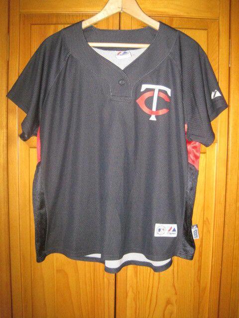 3088e84cfd3 Minnesota Twins Joe Mauer baseball jersey women's XL blue Majestic. Related  Items