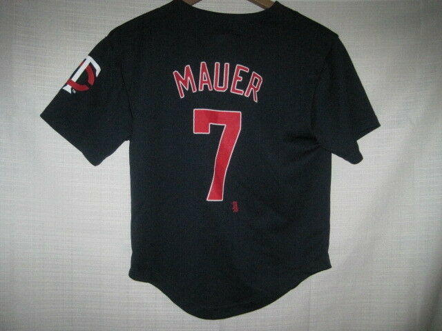 b51d1ff8 Minnesota Twins Joe Mauer jersey kids boys M 8 blue NEW   15% OFF   Baseball  Apparel & Jerseys   SidelineSwap