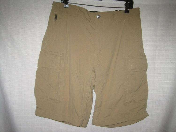 1e42a4f38a Duluth Trading Company Dry On The Fly Cargo men's L tan 59313 | Apparel  Shorts | SidelineSwap