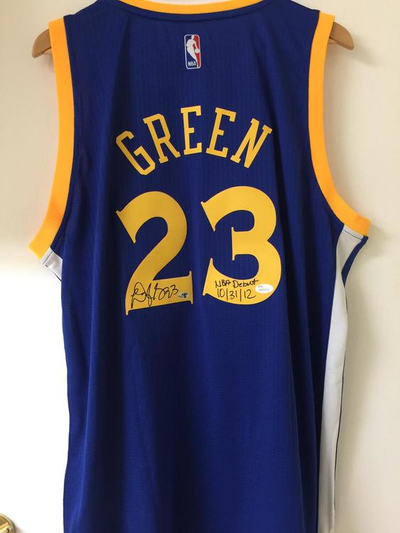 32e51aa3f4f Warriors Draymond Green Signed Autographed Jersey JSA Witnessed  Authentication and Certificate