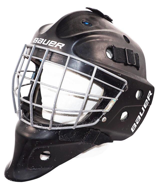 Bauer Nme 5 Mask Senior Mask Ice Goal Helmet Sr Used 2011 Hockey