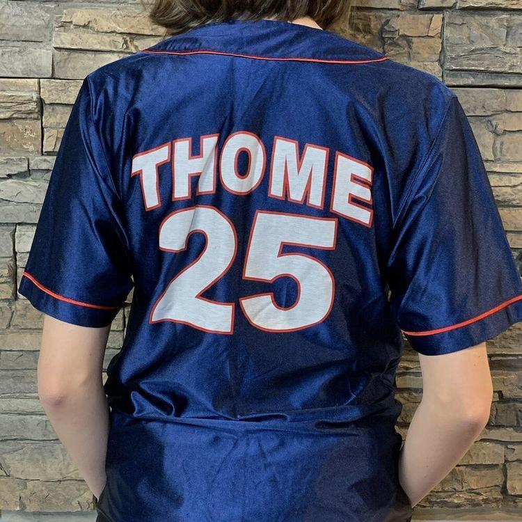 huge discount 07049 36f02 VTG Jim Thome Cleveland Indians MLB Baseball Jersey Youth Boys Large