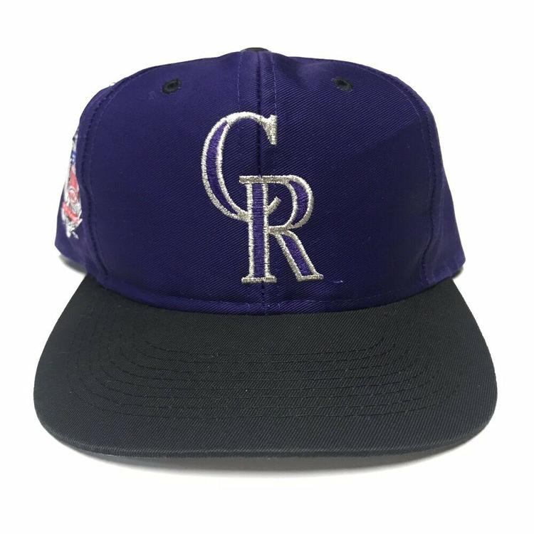 7836ac499 VTG Colorado Rockies Twill Snapback Hat MLB Baseball National League Purple  90s