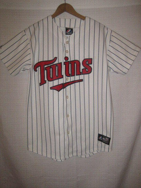 b5dfddb62 Minnesota Twins Majestic Baseball Jersey kids boys XL white pinstripe  Authentic. Related Items