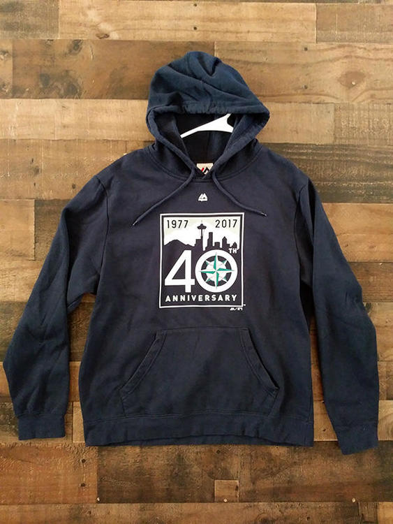 d680ef629 2017 Majestic MLB Baseball SEATTLE MARINERS 40th Anniversary Hoodie  Pullover Sweatshirt