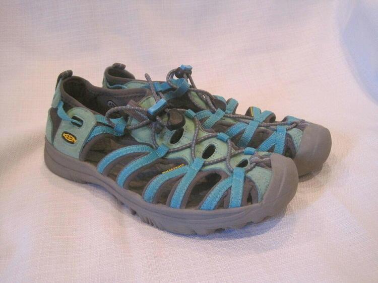 619bac59da30 Keen Whisper Sport Sandals Girls 5 teal hiking camping water outdoors