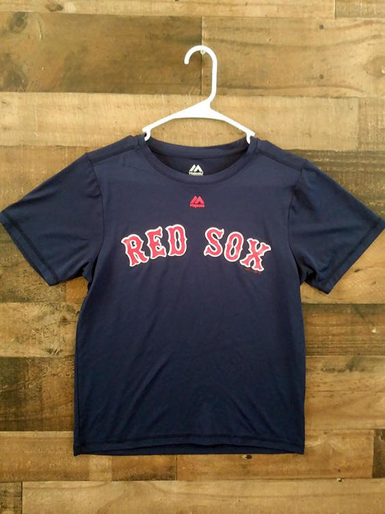 low priced 363df 36226 New Majestic Cool Base MLB Baseball BOSTON RED SOX Polyester Performance  Team Shirt