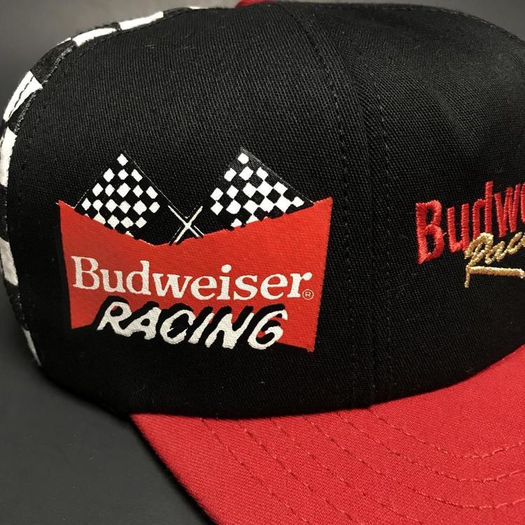 ea37db0bae6339 Vintage Budweiser Cerveza Racing Nascar 90s Sombrero Gorra Rey de ...