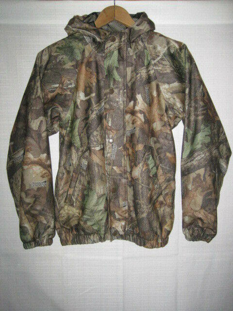 7cfd52e692d3b Advantage Timber camo waterproof rain jacket men's L brown hunting deer  duck. Related Items