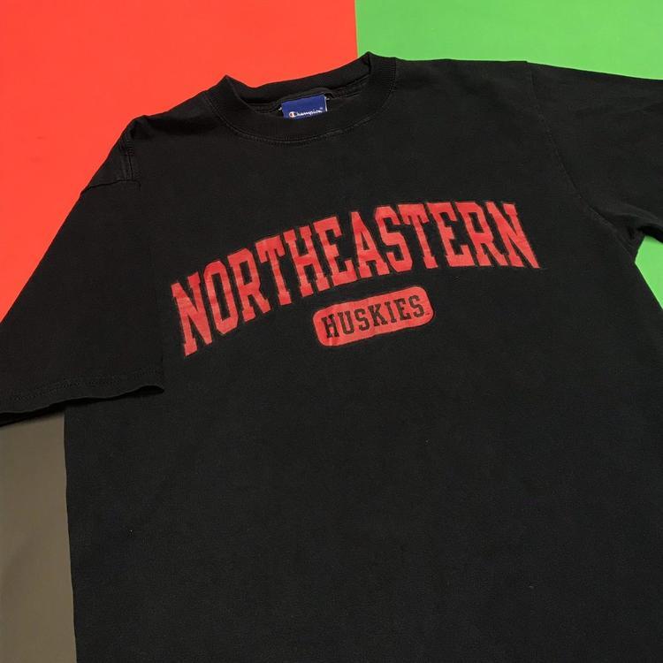 24392ebc Northeastern University Huskies of Boston Navy Blue Champion T Shirt ...