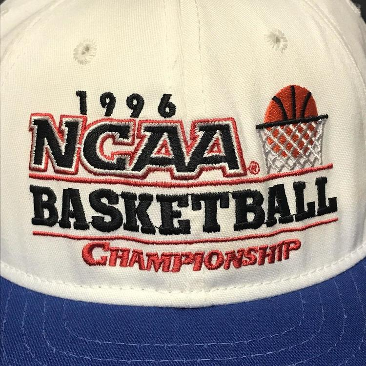 e61cc5d74 VTG 1996 NCAA Basketball Championship March Madness Snapback Hat Cap 90s  College