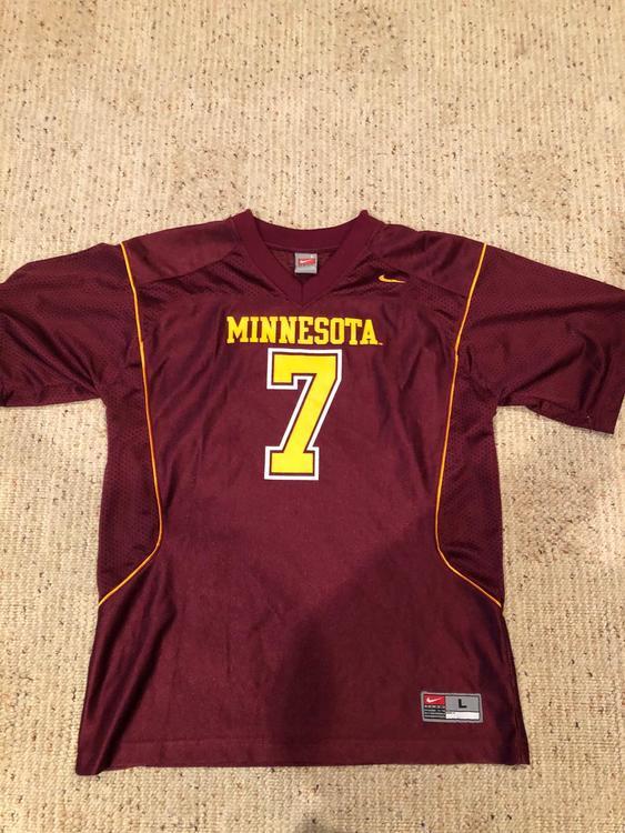 buy online a9548 9a665 Nike University of Minnesota Golden Gophers Jersey #7
