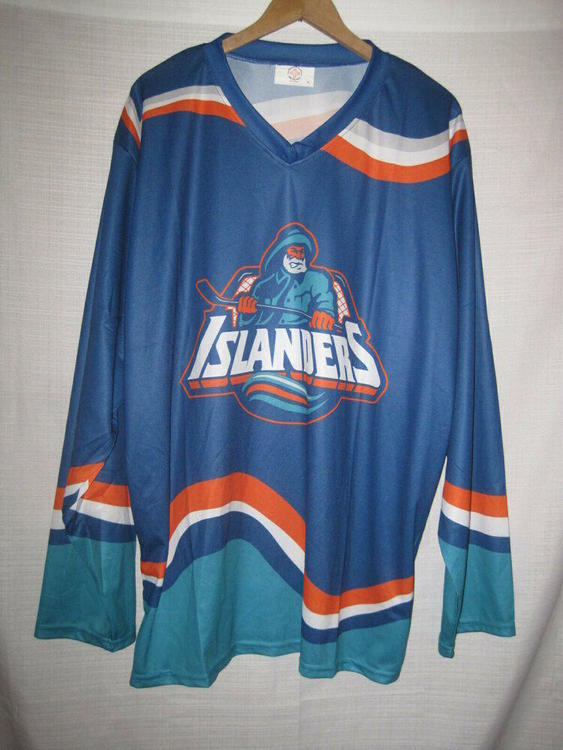 reputable site f11a8 b76bb New York Islanders Throwback Fish Sticks Promo Hockey Jersey men's XL blue