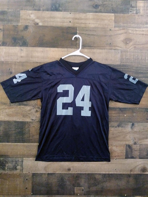 competitive price 8eca8 42b9a Vintage 1990s Adidas NFL Football OAKLAND RAIDERS #24 Charles Woodson  Player Jersey