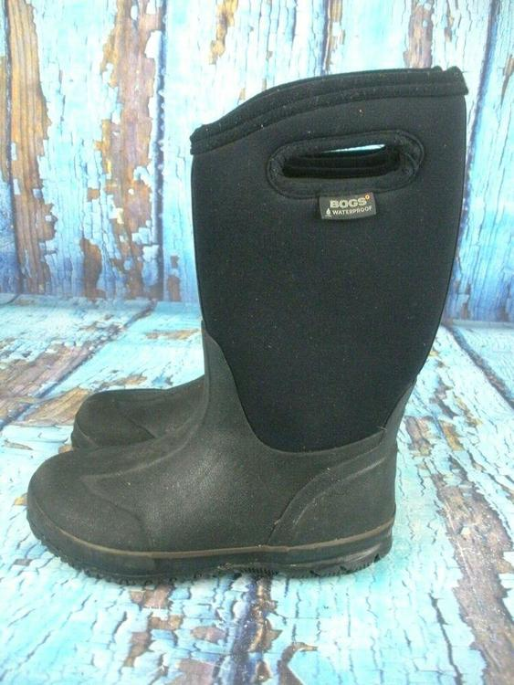 628204cc3c0e BOGS Classic High Handles Black 52065 Waterproof Insulated Boots Kid s  Size  3