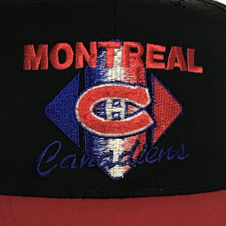 d607c25a9b991 VINTAGE Montreal Canadiens Hat Snapback Cap Black Red NHL Hockey CCM 90s  VTG. Related Items