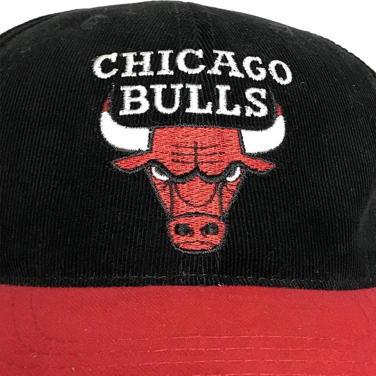 1c6b00f49ef VINTAGE Chicago Bulls Hat Snapback Cap Cordouroy 90s NBA Basketball Annco