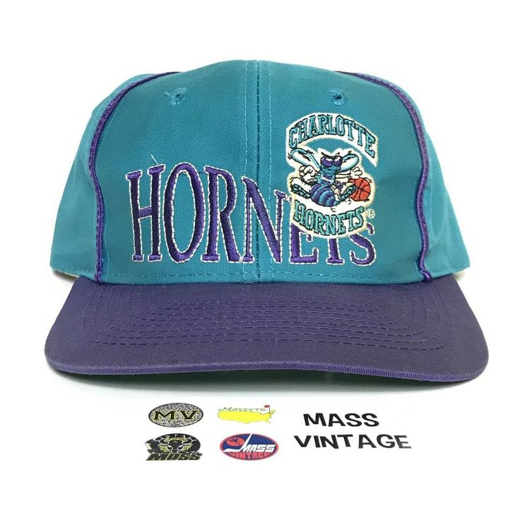 0558bcd009cc9 Cap hat vintage hat Charlotte Hornets for men NBA basketball game 90s From  Collection. Related Items