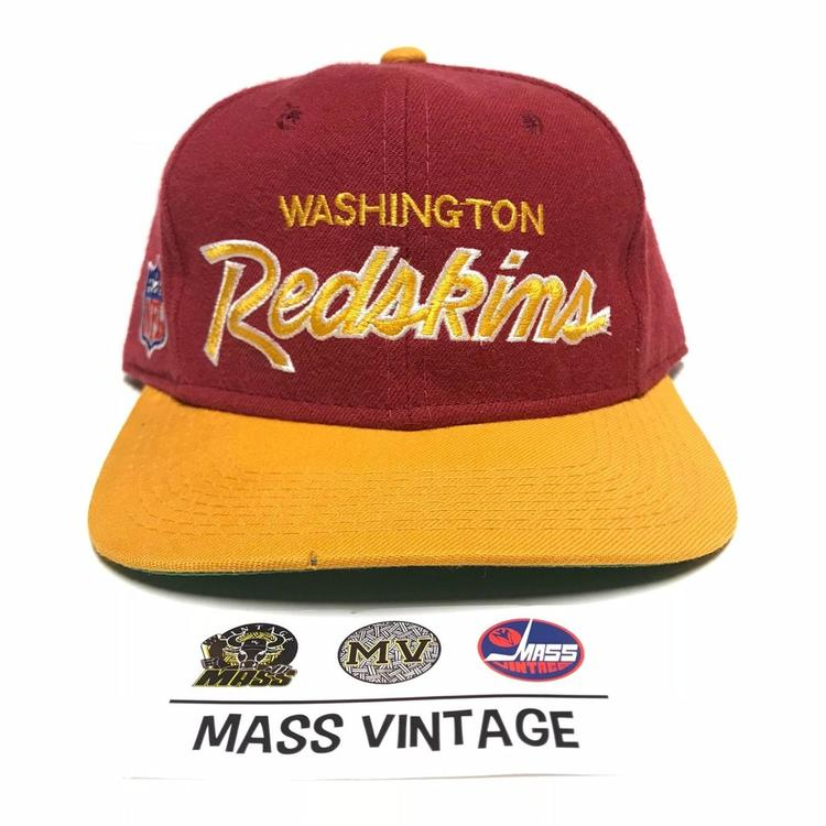 27fc322ff1433 VINTAGE 90s Washington Redskins NFL Sports Specialties Script Fitted Hat 7 1 8.  Related Items