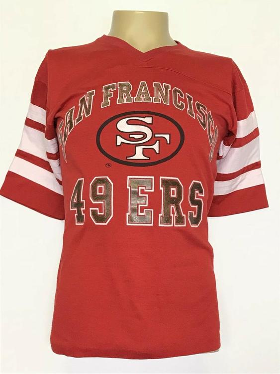 7aae9db9589 VINTAGE San Francisco 49ers Shirt Jersey Mens Medium Large Red 90s NFL  Football. Related Items