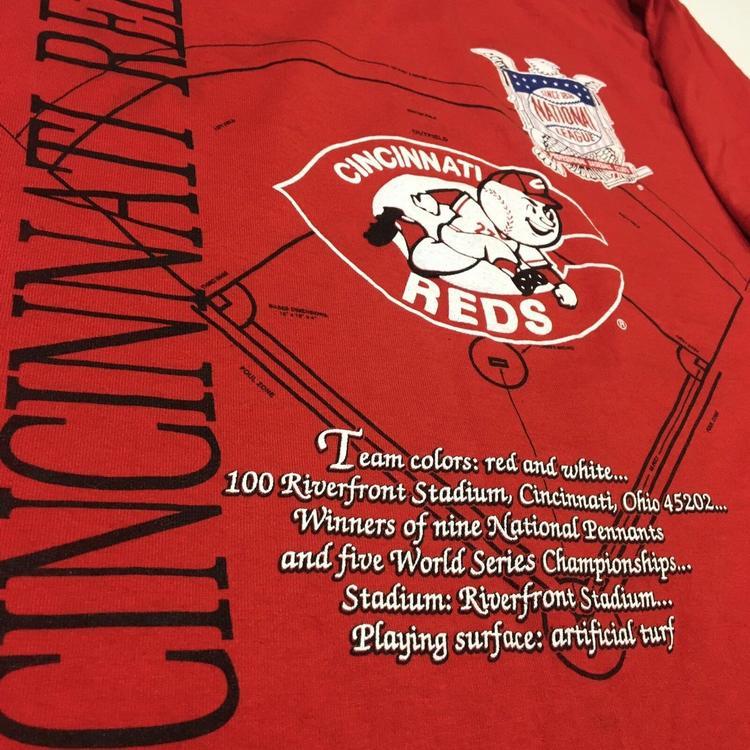 ce70e0bf VINTAGE 90s Cincinnati Reds Shirt Mens XL MLB Nutmeg Red Starter USA ...
